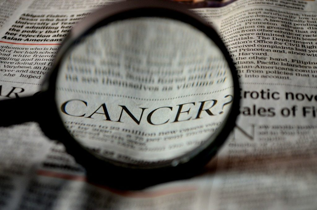 cancer, newspaper, word
