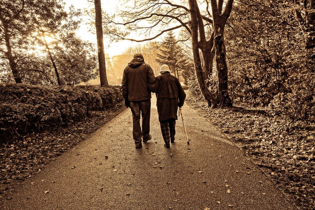 people, couple, elderly